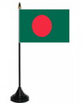 Bangladesh Desk / Table Flag with plastic stand and base.